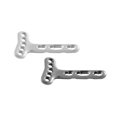 Locking Extra - Articular Small T - Plate Right Angled 2.7 MM (Head 5 Holes)