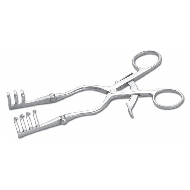 Mini Self Retaining Retractor for Metacarpals with Hinge