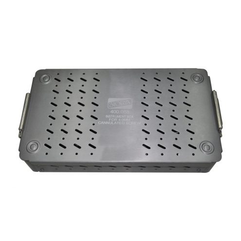 Graphic Aluminium Instruments Box with One Try for 4.0MM Cannulated Cancellous Screw
