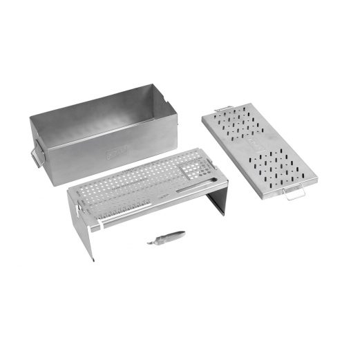 Combined Screw Box for 3.4, 3.9, 4.9 MM Interlocking Bolts with Screw Tray & Screw Holding Forceps