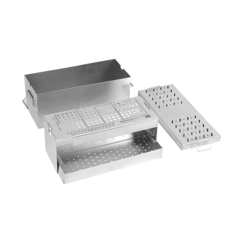 Screw Box for 7.0 MM Cannulated Cancellous Screws with Screw Tray, Instrument Tray & Screws Holding Forceps