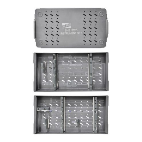 Graphic Aluminium Instrument Box With Two Trays for DHS & DCS Instruments