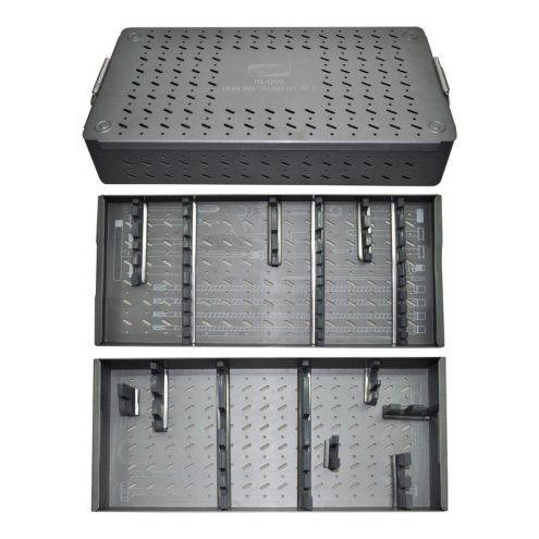 Graphic Aluminum Box For UHN Instruments Set With Two Tray and One 3.4mm Bolt Tray  Fixed