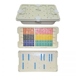 Graphic Implant Box for Pedicle Screws with Two Tray