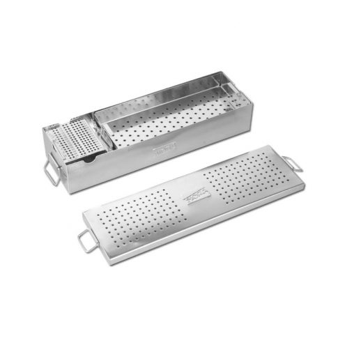 Small Fragment Instrument Box with Two Trays for Instruments & One Tray for Screws with Screw Holding Forceps