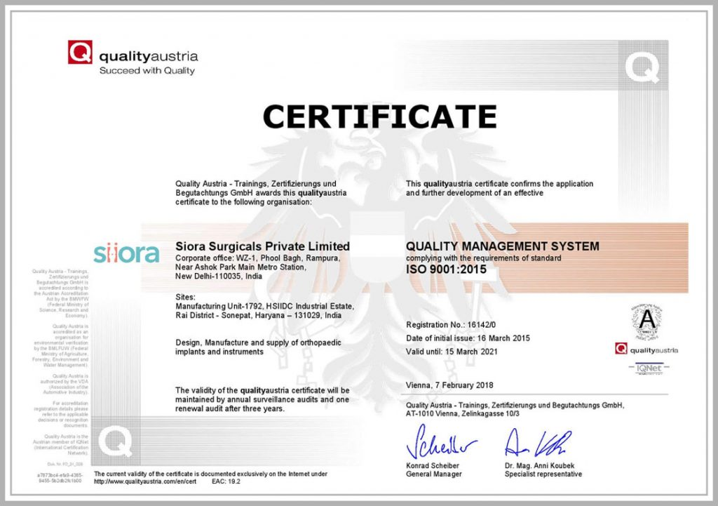 ISO 9001 CERTIFICATION 1
